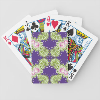 Midnight bloom bicycle playing cards