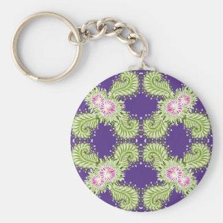 Midnight bloom keychain