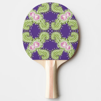 Midnight bloom ping pong paddle