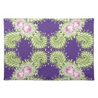 Midnight bloom placemat