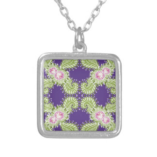 Midnight bloom silver plated necklace