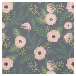 Midnight Blooms Fabric