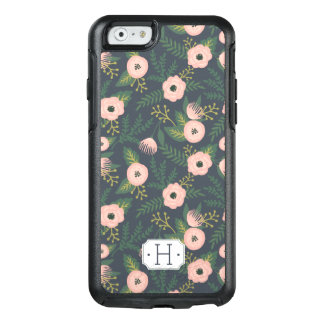 Midnight Blooms Monogram OtterBox iPhone 6/6s Case