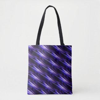 Midnight blue diagonals tote bag