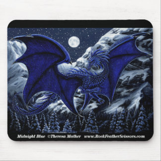 Midnight Blue Dragon Mousepad