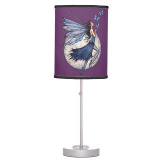 MIdnight Blue Fairy Fantasy Art Table Lamp