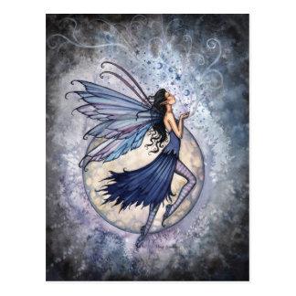 Midnight Blue Fairy Postcard by Molly Harrison