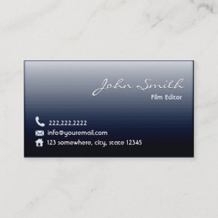 Movie production business cards profile cards zazzle ca midnight blue film editor business card colourmoves