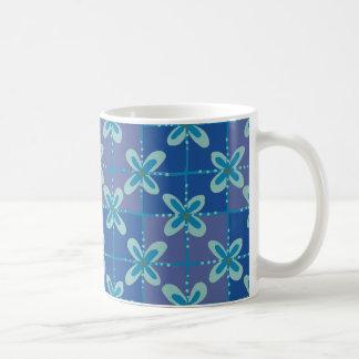 Midnight blue floral batik seamless pattern coffee mug