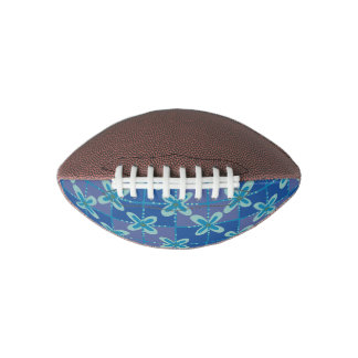 Midnight blue floral batik seamless pattern football