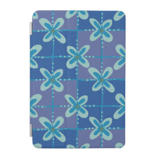 Midnight blue floral batik seamless pattern iPad mini cover