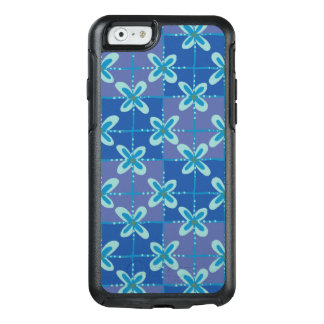 Midnight blue floral batik seamless pattern OtterBox iPhone 6/6s case