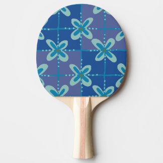 Midnight blue floral batik seamless pattern ping pong paddle