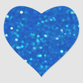Midnight Blue Glitz Heart Shaped Stickers