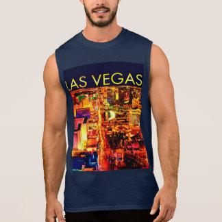Midnight Blue Las Vegas Lights Mens Shirt