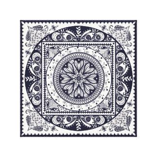 Midnight Blue Mandala Canvas Print