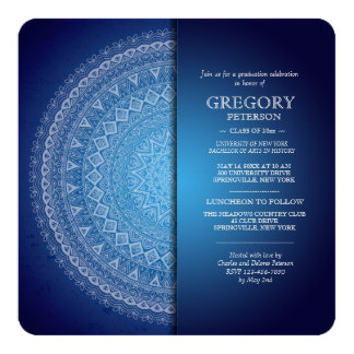 Midnight Blue Mandala Invitation