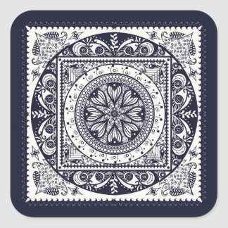 Midnight Blue Mandala Stickers