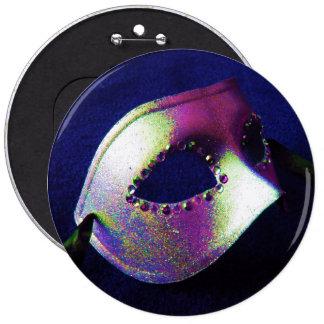 Midnight Blue Masquerade Pinback Buttons