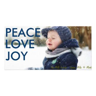 Midnight Blue Peace Love and Joy Photocard Card