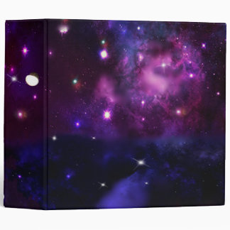 Midnight Blue Purple Galaxy 3 Ring Binder