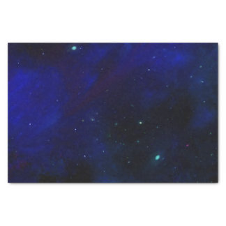 Midnight Blue Sky with Stars Tissue Paper