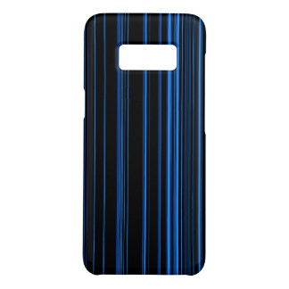 Midnight Blue Unique Modern Stripe Pattern Cool Case-Mate Samsung Galaxy S8 Case