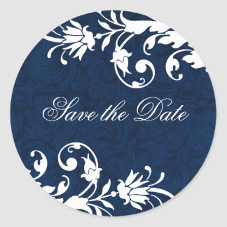 Midnight Blue Wedding Stickers