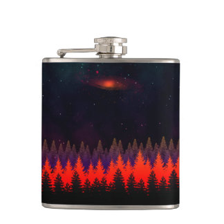 Midnight Blues Hip Flask