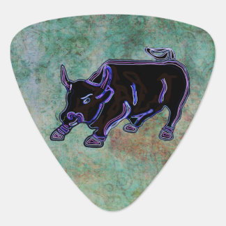 Midnight Bull Custom Monogram Guitar Pick