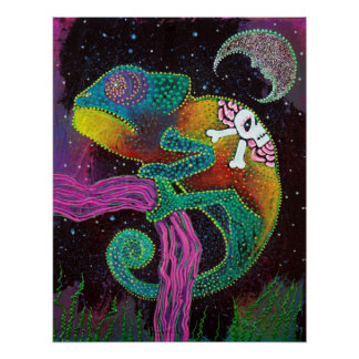 Midnight Chameleon Poster