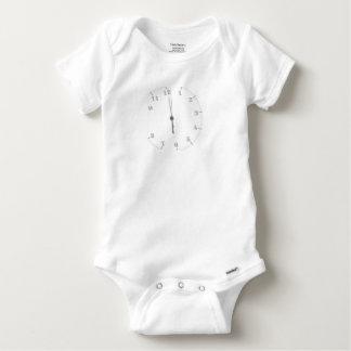 Midnight Clockface Baby Onesie