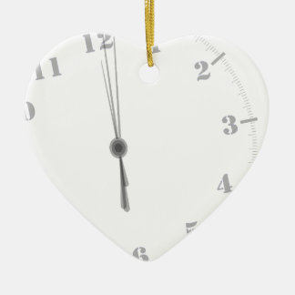 Midnight Clockface Ceramic Ornament