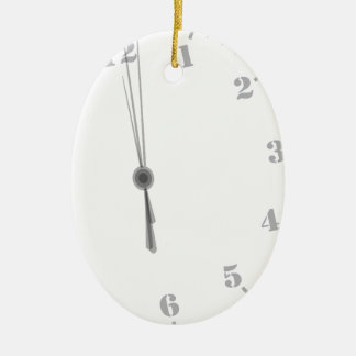 Midnight Clockface Ceramic Ornament