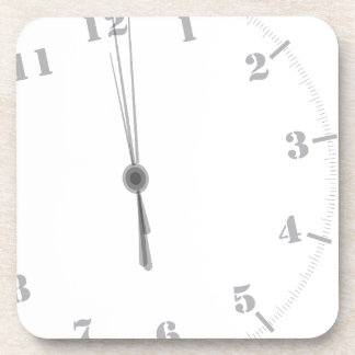 Midnight Clockface Coaster