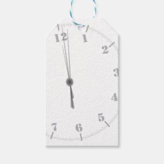 Midnight Clockface Gift Tags