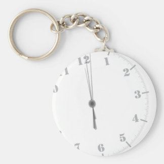 Midnight Clockface Keychain