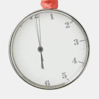Midnight Clockface Metal Ornament