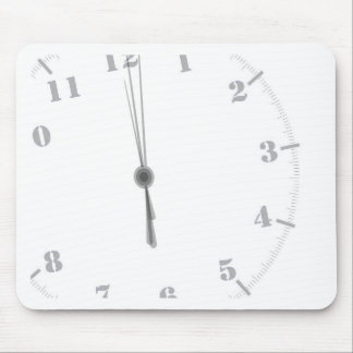 Midnight Clockface Mouse Pad