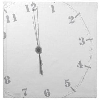 Midnight Clockface Napkin