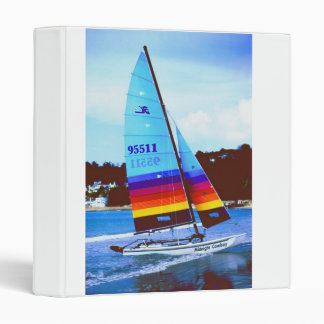 Midnight cowboy Hobie sailing boat 3 Ring Binders