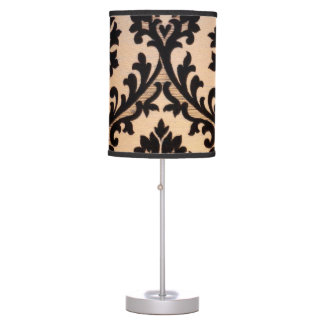 Midnight Damask Style Table Lamp