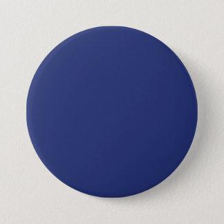 Midnight Dark Blue Personalized Navy Background 3 Inch Round Button