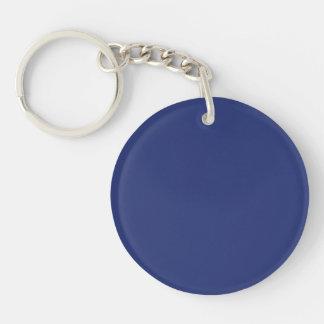 Midnight Dark Blue Personalized Navy Background Keychain