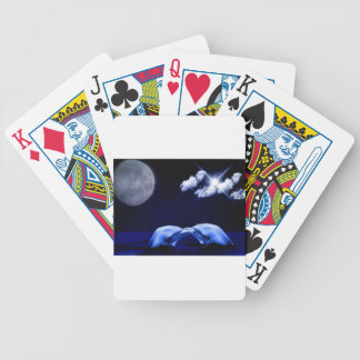 Midnight Dolphin Kiss Bicycle Playing Cards