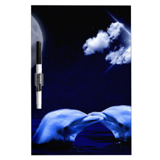 Midnight Dolphin Kiss Dry Erase Board