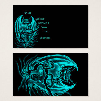 Midnight Dream - Devils in Tattoo-style Business Card