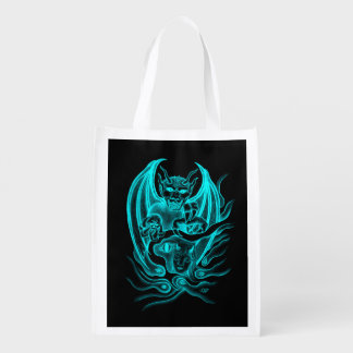 Midnight Dream - Devils in Tattoo-style Reusable Grocery Bag