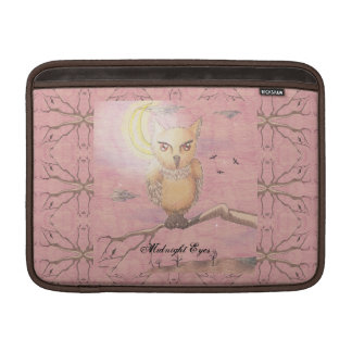 Midnight Eyes Cute Owl Goth Gothic Sleeve For MacBook Air