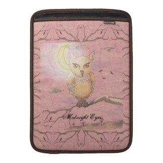 Midnight Eyes Cute Owl Goth Gothic Sleeve For MacBook Air